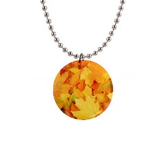 Yellow Maple Leaves Button Necklaces by trendistuff