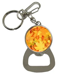 Yellow Maple Leaves Bottle Opener Key Chains by trendistuff