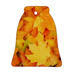 Yellow Maple Leaves Bell Ornament (2 Sides) by trendistuff