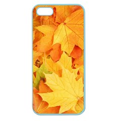 Yellow Maple Leaves Apple Seamless Iphone 5 Case (color) by trendistuff