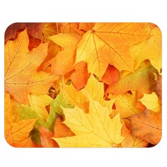Yellow Maple Leaves Double Sided Flano Blanket (medium)  by trendistuff