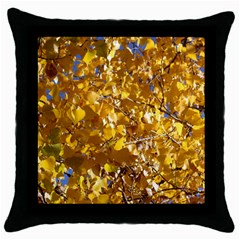 Yellow Leaves Throw Pillow Cases (black) by trendistuff