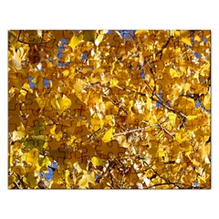 Yellow Leaves Rectangular Jigsaw Puzzl by trendistuff