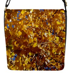Yellow Leaves Flap Messenger Bag (s) by trendistuff