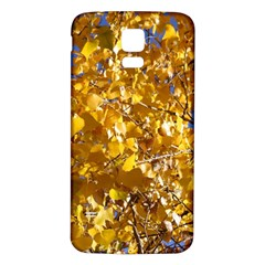 Yellow Leaves Samsung Galaxy S5 Back Case (white) by trendistuff