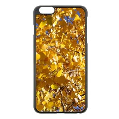 Yellow Leaves Apple Iphone 6 Plus/6s Plus Black Enamel Case by trendistuff