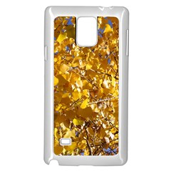 Yellow Leaves Samsung Galaxy Note 4 Case (white) by trendistuff