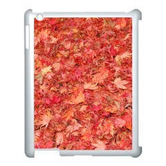 Red Maple Leaves Apple Ipad 3/4 Case (white) by trendistuff