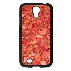 Red Maple Leaves Samsung Galaxy S4 I9500/ I9505 Case (black) by trendistuff