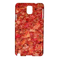 Red Maple Leaves Samsung Galaxy Note 3 N9005 Hardshell Case by trendistuff