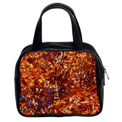 Orange Leaves Classic Handbags (2 Sides) by trendistuff