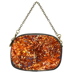 Orange Leaves Chain Purses (two Sides)  by trendistuff