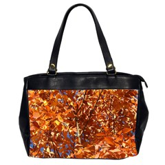 Orange Leaves Office Handbags (2 Sides)  by trendistuff