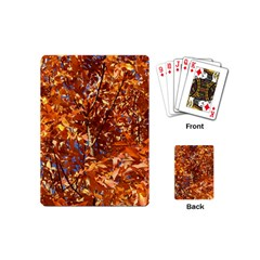 Orange Leaves Playing Cards (mini)  by trendistuff