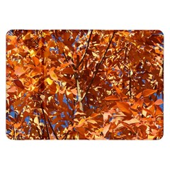 Orange Leaves Samsung Galaxy Tab 8 9  P7300 Flip Case by trendistuff