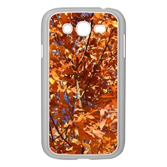 Orange Leaves Samsung Galaxy Grand Duos I9082 Case (white) by trendistuff