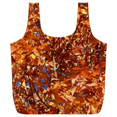 Orange Leaves Full Print Recycle Bags (l)  by trendistuff