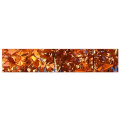 Orange Leaves Flano Scarf (small)  by trendistuff