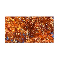 Orange Leaves Satin Wrap by trendistuff
