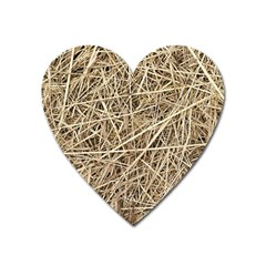 Light Colored Straw Heart Magnet by trendistuff