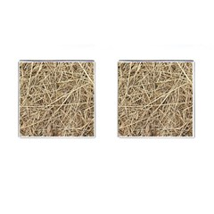Light Colored Straw Cufflinks (square) by trendistuff