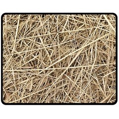 Light Colored Straw Double Sided Fleece Blanket (medium)  by trendistuff
