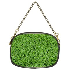 Green Grass 2 Chain Purses (two Sides)  by trendistuff