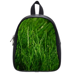 Green Grass 1 School Bags (small)  by trendistuff