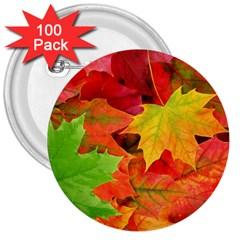 Autumn Leaves 1 3  Buttons (100 Pack)  by trendistuff