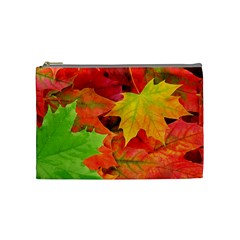 Autumn Leaves 1 Cosmetic Bag (medium)  by trendistuff