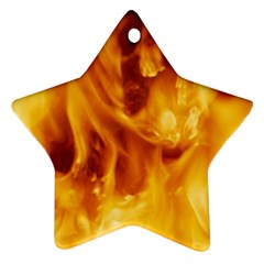 Yellow Flames Ornament (star)  by trendistuff