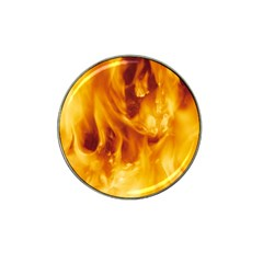 Yellow Flames Hat Clip Ball Marker (4 Pack) by trendistuff