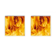Yellow Flames Cufflinks (square) by trendistuff
