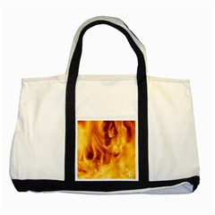 Yellow Flames Two Tone Tote Bag  by trendistuff