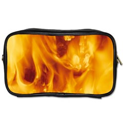 Yellow Flames Toiletries Bags 2 Side by trendistuff