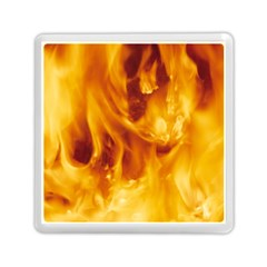 Yellow Flames Memory Card Reader (square)  by trendistuff