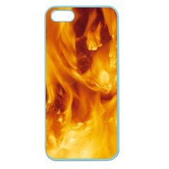 Yellow Flames Apple Seamless Iphone 5 Case (color) by trendistuff