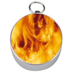 Yellow Flames Silver Compasses