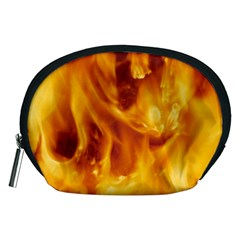 Yellow Flames Accessory Pouches (medium)  by trendistuff