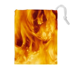 Yellow Flames Drawstring Pouches (extra Large) by trendistuff