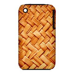 Woven Straw Apple Iphone 3g/3gs Hardshell Case (pc+silicone) by trendistuff