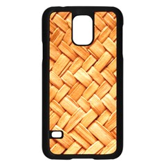 Woven Straw Samsung Galaxy S5 Case (black) by trendistuff