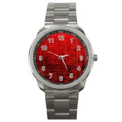 Shades Of Red Sport Metal Watches by trendistuff