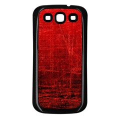 Shades Of Red Samsung Galaxy S3 Back Case (black) by trendistuff