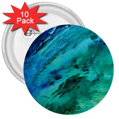 Shades Of Blue 3  Buttons (10 Pack)  by trendistuff