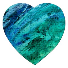Shades Of Blue Jigsaw Puzzle (heart) by trendistuff