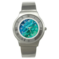 Shades Of Blue Stainless Steel Watches by trendistuff