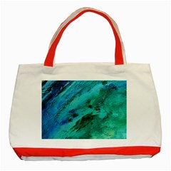 Shades Of Blue Classic Tote Bag (red)  by trendistuff