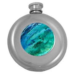 Shades Of Blue Round Hip Flask (5 Oz) by trendistuff