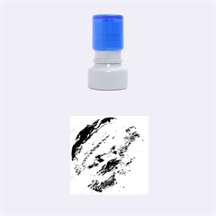 Shades Of Blue Rubber Round Stamps (small) by trendistuff
